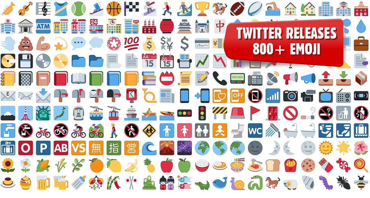 Emoji: Twitter Open Sources 872 Graphics For You To Use In