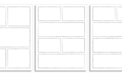 Colouring Pages: Comic Book Frame Templates
