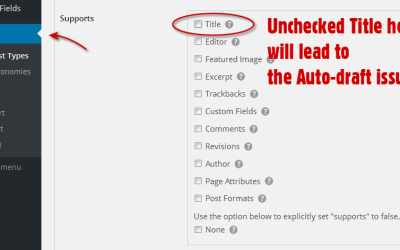 WordPress: Advanced Custom Fields, Custom Post Types And The Dreaded Auto-Draft Title